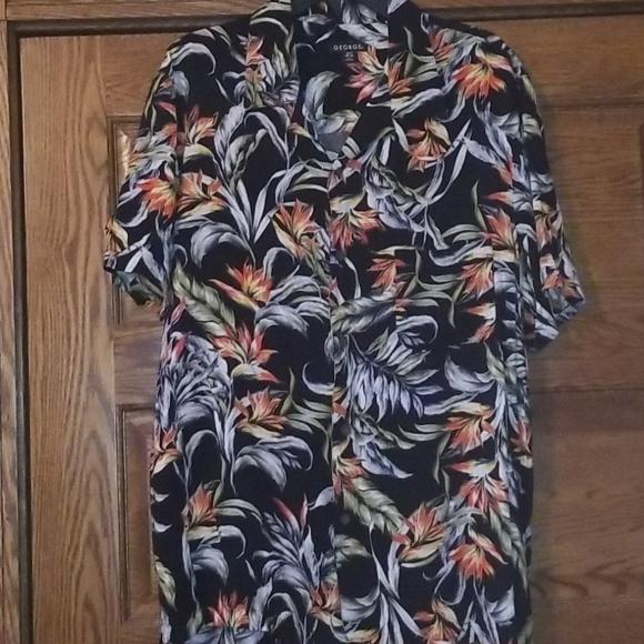 Mens 100% Rayon Bird of Paradise shirt xl